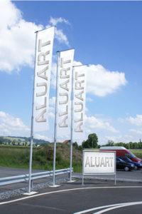 aluart-alu-Display-werbefahnen